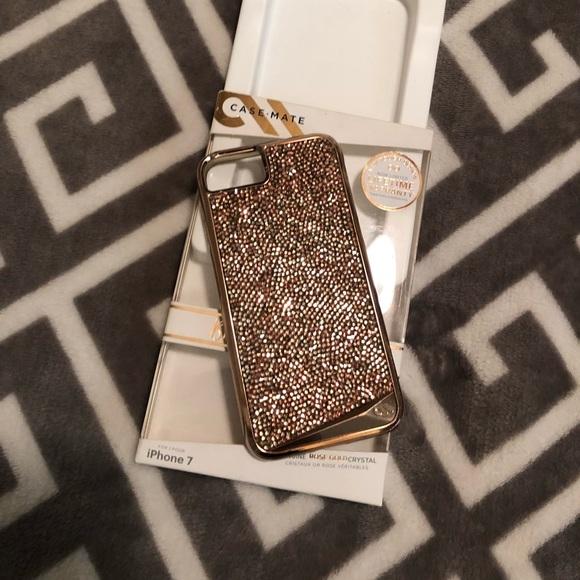 new style 78591 bf7b9 Swarovski crystal rose gold phone case